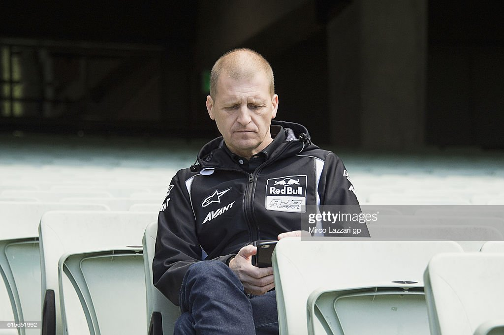 Aki Ajo of Finland and Red Bull KTM Ajo looks on during the pre-event in Melbourne Cricket Ground during the MotoGP of Australia - Pre-Event Activities on October 19, 2016 in Melbourne, Australia.