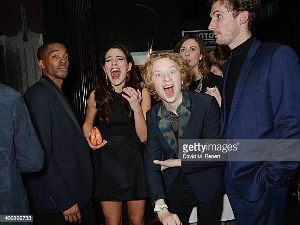 Aki Omoshaybi Melia Kreiling Eros Vlahos and Gwilym Lee attend the InStyle Best of British Talent party in celebration of BAFTA in association with...