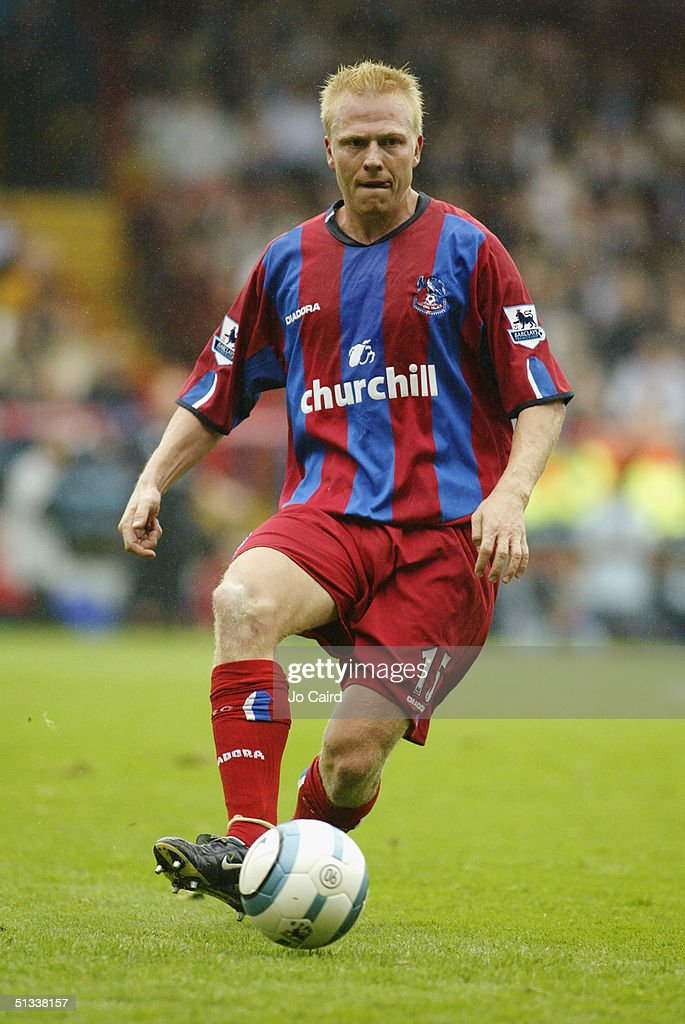 Aki Riihilahti of Crystal Palace of in action during the Barclays Premiership match between Crystal Palace and Manchester City at Selhurst Park on September 18, 2004 in London, England.