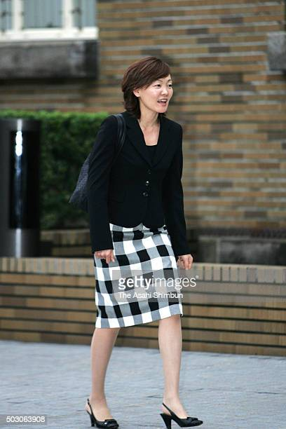 Akie Abe wife of incoming Prime Minister Shinzo Abe leaves after inspecting the Prime Minister's Residence on September 27 2006 in Tokyo Japan