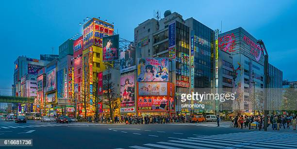 Akihabara District at Blue Hour