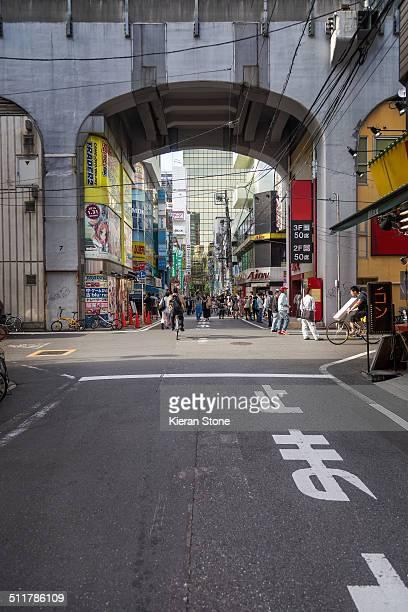 akihabara electric town - chuo dori street stock photos and pictures
