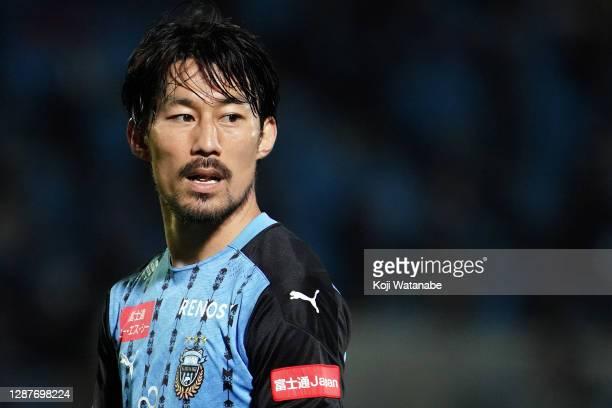 Akihiro Ienaga of Kawasaki Fronale looks on during the J.League Meiji Yasuda J1 match between Kawasaki Frontale and Gamba Osaka at the Todoroki...