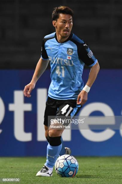 Akihiro Ienaga of Kawasaki Frontale in action during the AFC Champions League Group G match between Kawasaki Frontale and Eastern SC at Kawasaki...