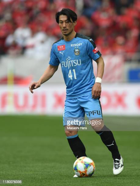 Akihiro Ienaga of Kawasaki Frontale in action during the Fuji Xerox Super Cup between Kawasaki Frontale and Urawa Red Diamonds at Saitama Stadium on...
