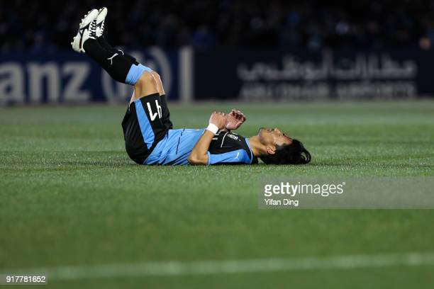 Akihiro Ienaga of Kawasaki Frontale looks dejected after missing a scoring chance during the AFC Champions League Group F match between Kawasaki...
