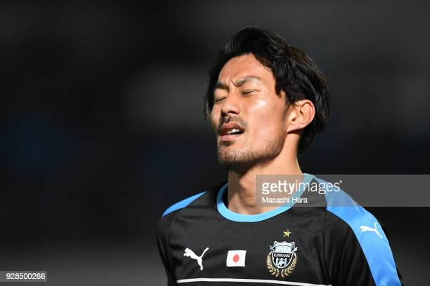 Akihiro Ienaga of Kawasaki Frontale looks on during the AFC Champions League Group F match between Kawasaki Frontale and Melbourne Victory at...