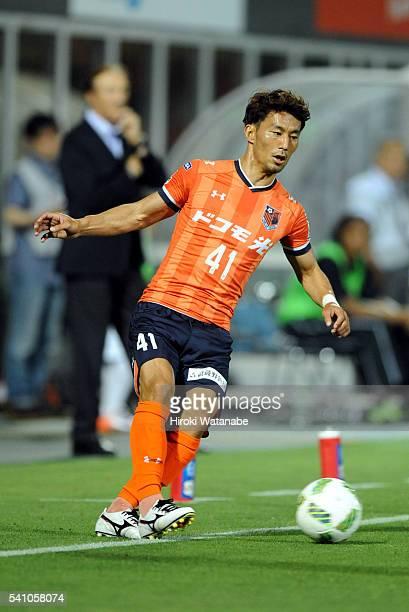 Akihiro Ienaga of Omiya Ardija in action during the J.League match between Omiya Ardija and Yokohama F.Marinos at the Nack 5 Stadium Omiya on June...