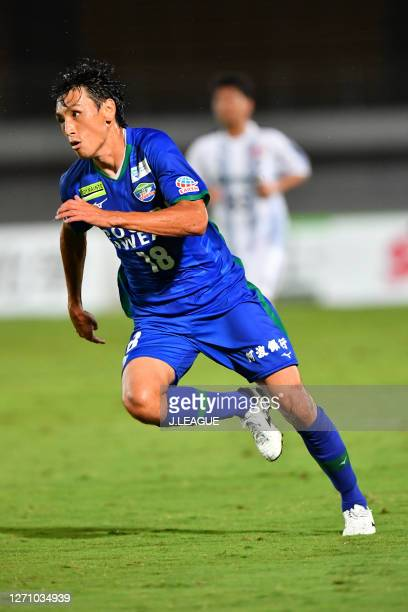 Akihiro SATO of Tokushima Vortis in action during the J.League Meiji Yasuda J2 match between Tokushima Vortis and Thespa Kusatsu Gunma at Pocari...