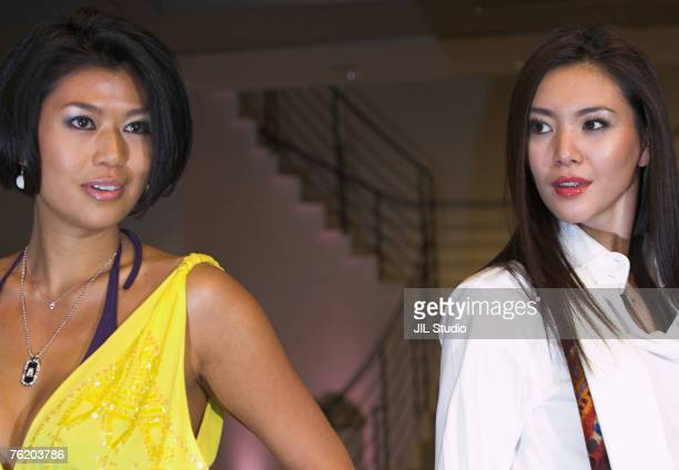 Akiko Chubachi and Miss Universe 2006 1st Runnerup Kurara Chibana