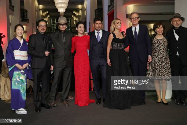 Akiko Iwase Hiroyuki Sanada Johnny Depp Minami director Andrew Levitas Katherine Jenkins Bill Nighy Aileen Mioko Smith and Benoit Delhomme pose at...