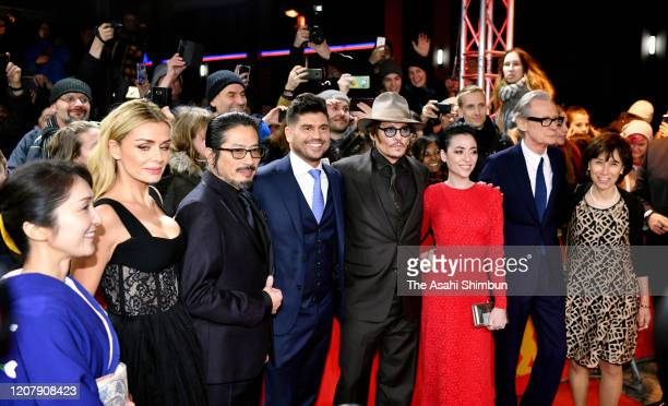 Akiko Iwase Katherine Jenkins Hiroyuki Sanada director Andrew Levitas Johnny Depp Minami Bill Nighy and Aileen Mioko Smith pose during the Minamata...