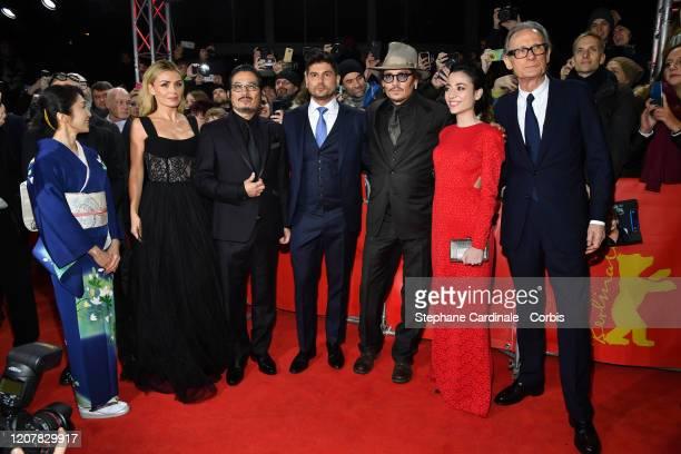 Akiko Iwase Katherine Jenkins Hiroyuki Sanada Johnny Depp Minami director Andrew Levitas Johnny Depp Minami and Bill Nighy pose at the Minamata...