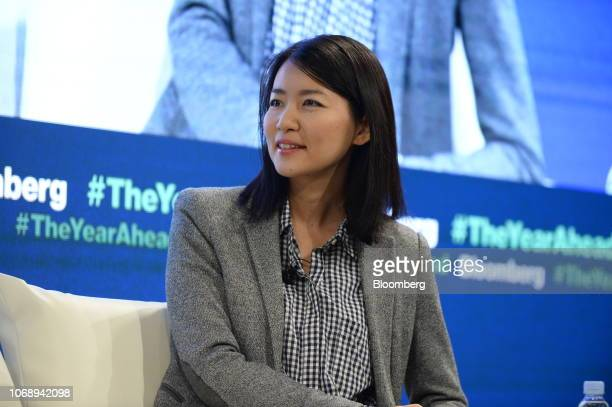 Akiko Naka founder and chief executive officer of Wantedly Inc attends the Bloomberg Year Ahead summit in Tokyo Japan on Thursday Dec 6 2018 The...