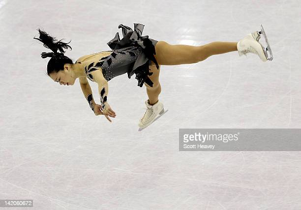 Akiko Suzuki of Japan performs during day four of the ISU World Figure Skating Championships on March 29 2012 in Nice France