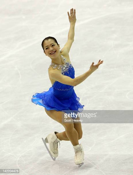 Akiko Suzuki of Japan performs during day six of the ISU World Figure Skating Championships on March 31 2012 in Nice France