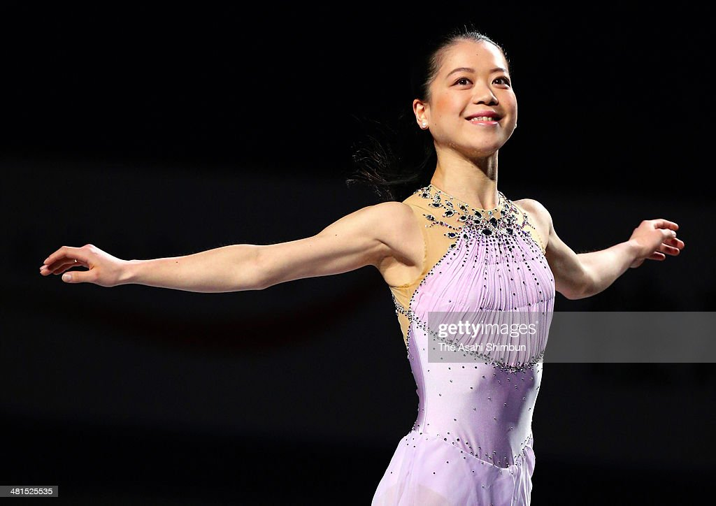 Akiko Suzuki of Japan performs during the gala exhibition of the ISU World Figure Skating Championships at Saitama Super Arena on March 30, 2014 in Saitama, Japan.