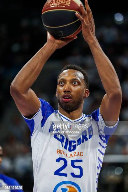 Akil Mitchell of Boulazac during the Jeep Elite match between Boulazac Basket Dordogne v JL Bourg en Bresse on November 17 2018 in Boulazac France