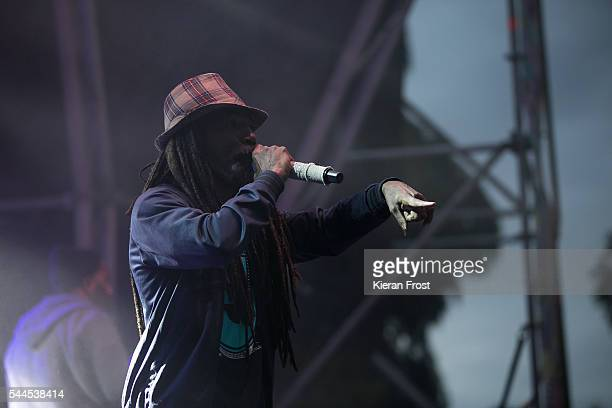 Akil of Jurassic 5 performs at CastlePalooza at Charville Castle on July 2, 2016 in Tullamore, Ireland.
