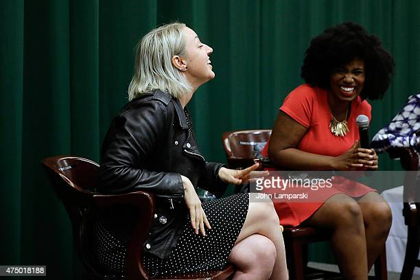 Akilah Hughes attends as Sophia Rivka Rossi discusses her new book ' A Tale Of Two Besties' with Akilah Hughes at Barnes Noble Tribeca on May 28 2015...