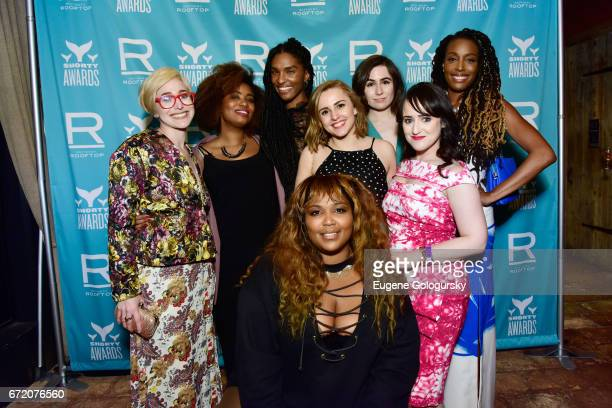 Akilah Hughes Hannah Witton Dodie Clark Lizzo Mara Wilson Akilah Hughes and guests attend the The 9th Annual Shorty Awards After Party at the...