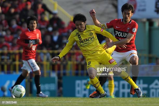 Akimi Barada of Kashiwa Reysol in action during the JLeague 2016 match between Kashiwa Reysol and Urawa Red Diamonds at the Hitachi Kashiwa Soccer...