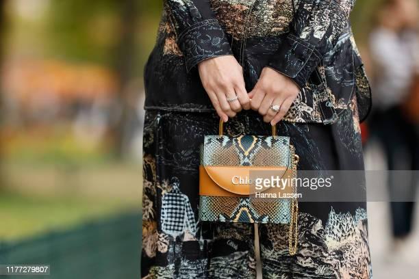 Akimoto Kozue wearing Chloe outside Chloe during Paris Fashion Week - Womenswear Spring Summer 2020 on September 26, 2019 in Paris, France.