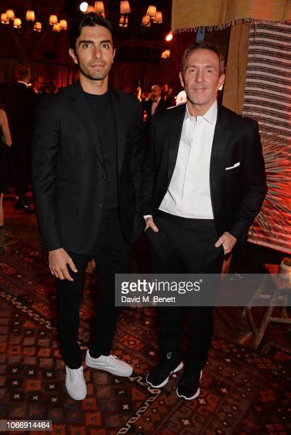 Akin Akman and Trey Laird attend the gala dinner in honour of Stella McCartney winner of the Global VOICES Award for 2018 during #BoFVOICES on...