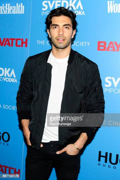 Akin Akman attends The Cinema Society with Hugo by Hugo Boss Women's Health SVEDKA host a screening of 'Baywatch' at Landmark Sunshine Cinema on May...