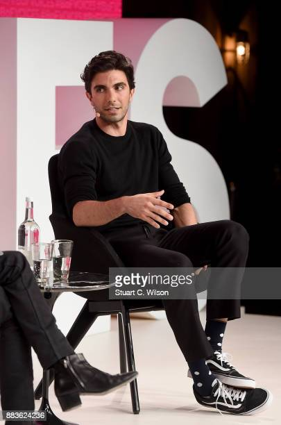 Akin Akman speaks on stage during #BoFVOICES on December 1 2017 in Oxfordshire England