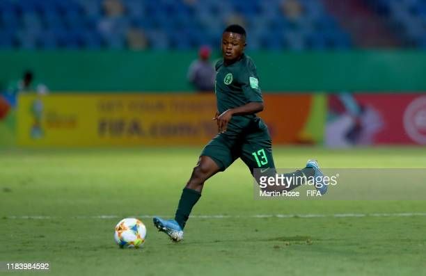 Akinkunm iAmoo of Nigeria runs with the ball during the FIFA U17 World Cup Brazil 2019 Group B match between Nigeria and Hungary at Estadio Olimpico...