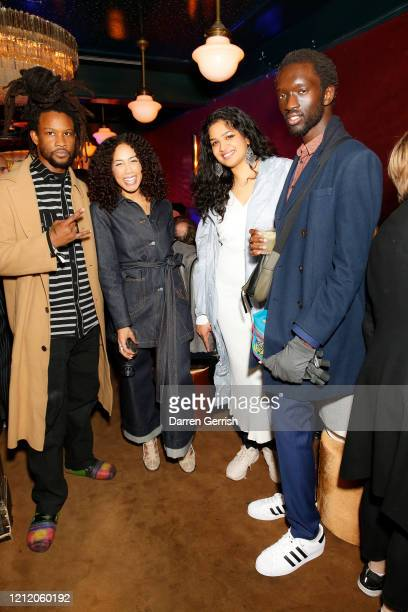 Akinola Davies Jayda G a guest and Wilson Oryema attend as Jonathan Anderson and Jenny Galimberti celebrate the opening of the new JW Anderson Soho...