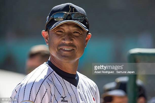 Akinori Otsuka pitching coach of Japan looks on during the WBSC U23 Baseball World Cup Group B game between Chinese Taipei and Japan at Estadio de...