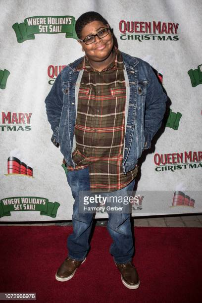 Akinyele Caldwell arrives at Queen Mary Christmas Media VIP Night at Queen Mary Events Park on November 26 2018 in Long Beach California
