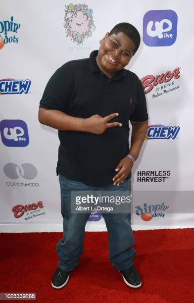 Akinyele Caldwell arrives for Will B's 16th Birthday held at Starwest Studios on August 24 2018 in Burbank California