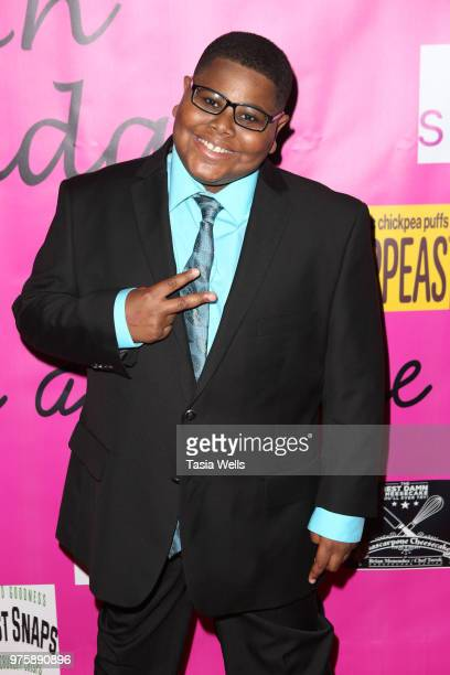 Akinyele Caldwell attends Jillian Estell's red carpet birthday party with a purpose benefitting The Celiac Disease Foundation on June 15 2018 in Los...