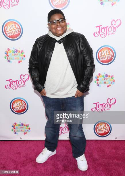Akinyele Caldwell attends JoJo Siwa's 15th Birthday Party at Dave Busters on May 15 2018 in Hollywood California