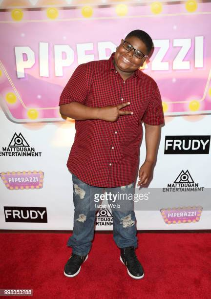 Akinyele Caldwell attends the premiere of 'Piperazzi' and Matt Dugan's 'Big Big Big Big Birthday Bash' at The Federal Bar on July 13 2018 in North...