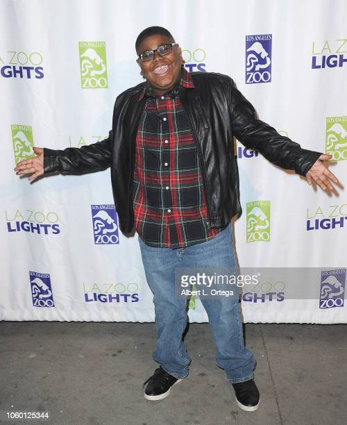 Akinyele Caldwell attends the LA Zoo Lights Special Preview/VIP Night held at Los Angeles Zoo on November 10 2018 in Los Angeles California
