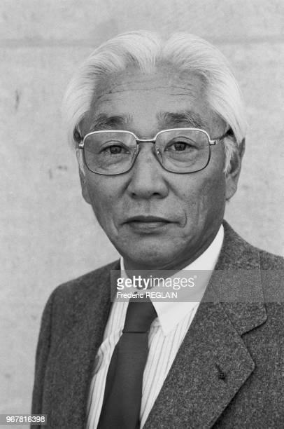Akio Morita présidentdirecteurgénéral de Sony le 28 septembre 1984 à Paris France