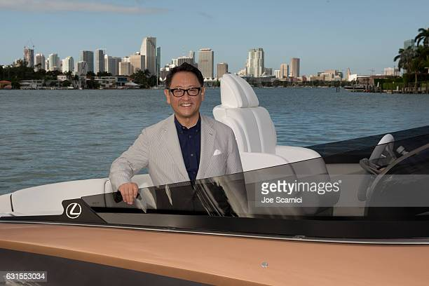 Akio Toyoda Lexus Chief Branding Officer and Master Driver pictured at the world premiere of the Lexus Sport Yacht concept revealed at the Lexus...