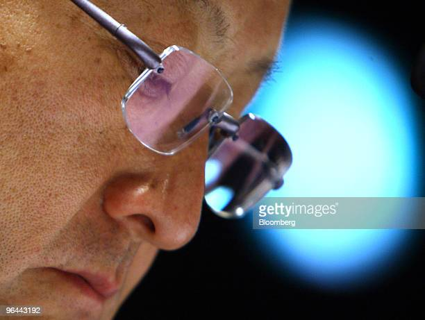 Akio Toyoda president of Toyota Motor Corp pauses during a news conference in Nagoya Japan on Friday Feb 5 2010 Toyoda apologized for the company's...