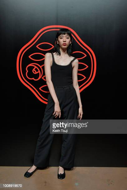 Akira attends the Shiseido Makeup Tokyo Launch Event on August 1 2018 in Tokyo Japan