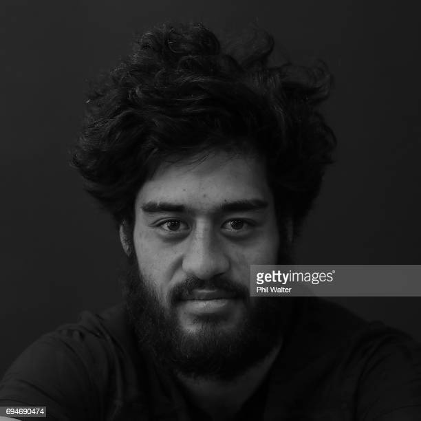 Akira Ioane during the New Zealand All Blacks Headshots Session on June 11 2017 in Auckland New Zealand