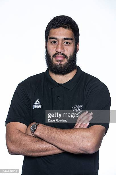 Akira Ioane during the New Zealand Olympic Games Rugby Sevens Team Announcement at Eden Park on July 3 2016 in Auckland New Zealand