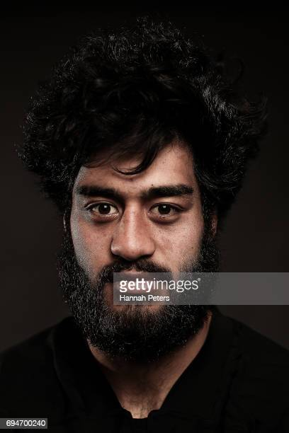 Akira Ioane poses for a portrait during the New Zealand All Blacks Headshots Session on June 11 2017 in Auckland New Zealand