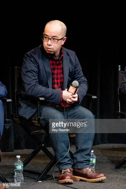 Akira Ito discusses 'Isle Of Dogs' during the New York Screening QA at The Film Society of Lincoln Center Walter Reade Theatre on March 22 2018 in...