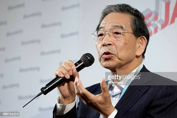 Akira Kiyota president and chief executive officer of Japan Exchange Group Inc speaks during a seminar hosted by Bloomberg LP in Tokyo Japan on...