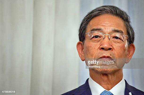 Akira Kiyota president of Tokyo Stock Exchange Inc pauses during the opening of the Singapore branch of the Tokyo Stock Exchange Inc and Osaka...