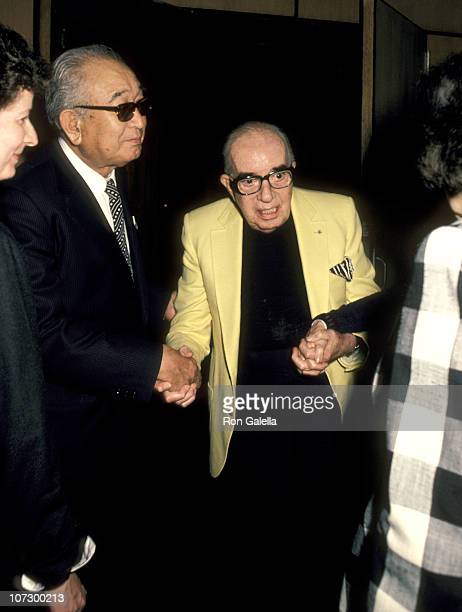 Akira Kurosawa and Vincente Minnelli during 38th Annual Directors Guild of America Awards Honors Akira Kurosawa March 26 1986 at Directors Guild of...